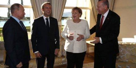 Ərdoğandan Putin, Makron və Merkelə böyük jest -FOTOLAR