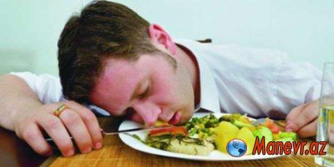 Yemək yedikdən sonra niyə YUXUMUZ GƏLİR?