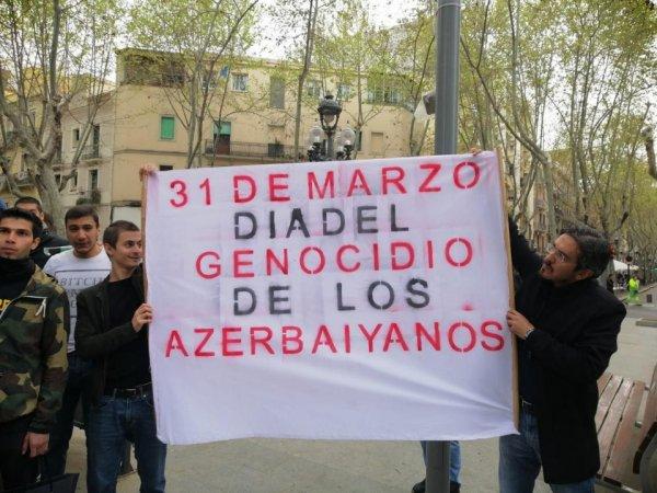 Azərbaycanlılar Barselonada ermənilərə qarşı mitinq keçirdi - ŞƏKİLLƏR,VİDEO