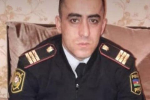 Abşeronda özünü asan polisin