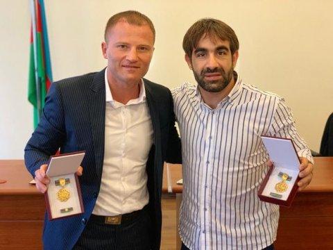 Tanınmış idmançı və veteranlarımıza yubiley medalı verildi - ŞƏKİLLƏR