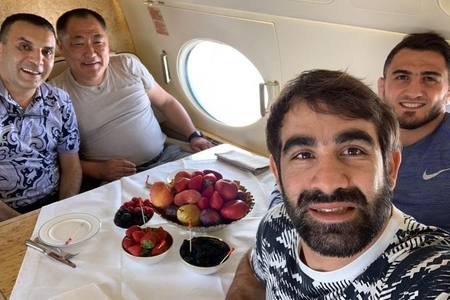 Rafael Ağayev və Hacı Əliyev Tuva prezidentinin ad günündə - ŞƏKİL