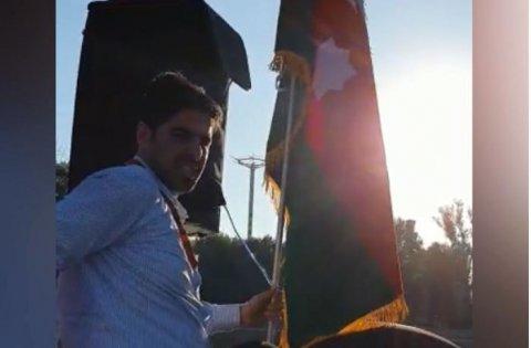 İranda Azərbaycan bayrağı ilə bağlı qalmaqal yaşanıb - VİDEO