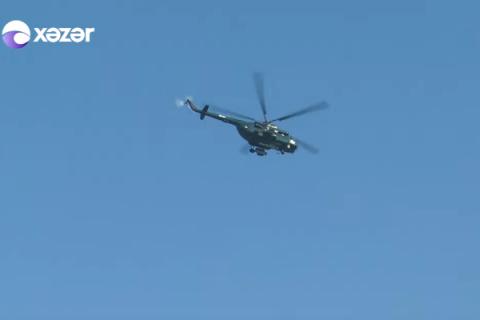 Sumqayıtda maraqlı tədbir: dəvətnamələri helikopterlərlə payladılar - VİDEO