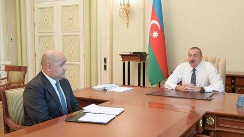 İlham Əliyev Neft Fondunun yeni rəhbərini qəbula çağırdı