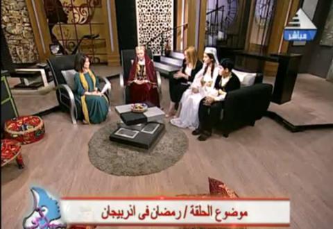 Misirin dövlət televiziyası canlı yayımda Azərbaycana veriliş həsr edib
