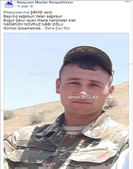 """""""Azərbaycan ordusu şəhid verib"""""""