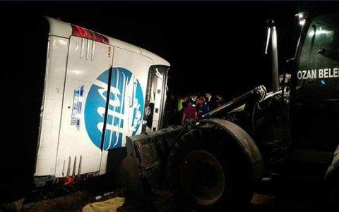 Avtobus yük maşını ilə TOQQUŞDU: 8 nəfər öldü