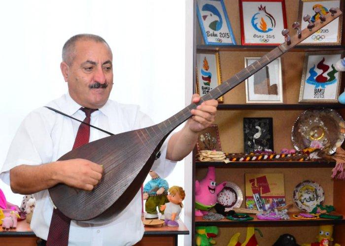 Nizami rayonunda  Aşıq Şəmşirin 125 illik yubileyi ilə bağlı tədbir keçirilib - FOTOLAR