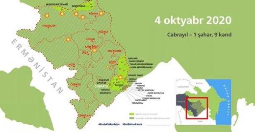 Azərbaycanın işğaldan azad etdiyi ərazilərin interaktiv xəritəsi