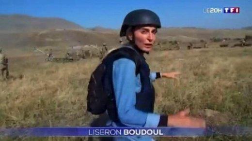 Ermənilər cəbhədən reportaj hazırlayan jurnalisti təhdid etdi