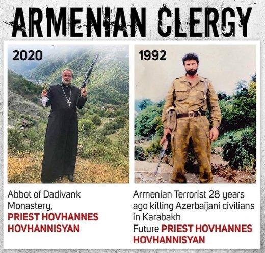 İbrahim Nəbioğlu Ermənistanın din xadimini ifşa etdi - ŞƏKİL