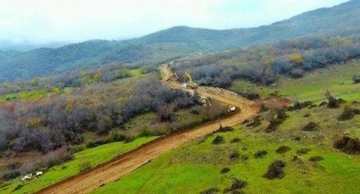 Şuşaya aparan avtomobil yolunun inşasına start verildi - ŞƏKİL