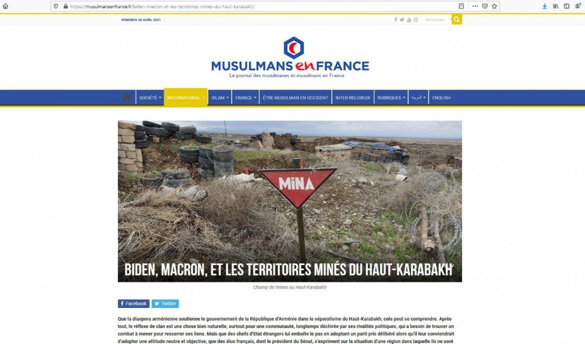 Fransa portalı: Ermənistan azad edilmiş ərazilərdəki minaların xəritəsini Azərbaycana verməkdən imtina edir