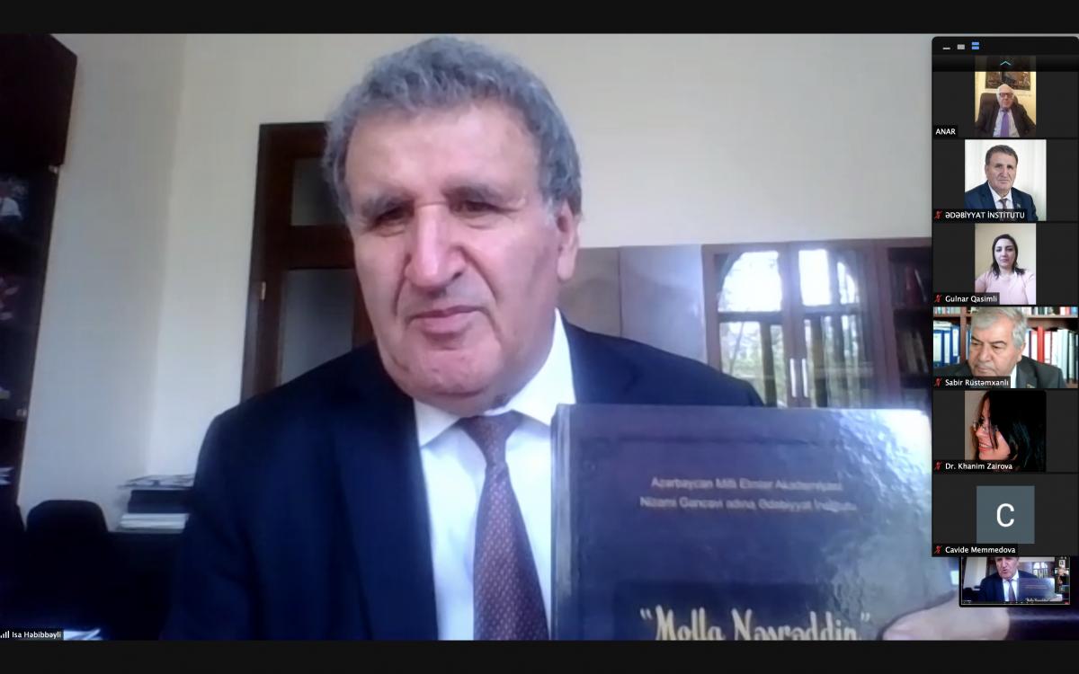 """Ədəbiyyat İnstitutunda """"Molla Nəsrəddin"""" ensiklopediyası""""nın təqdimatı keçirilib"""
