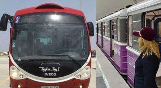 Bu şənbə avtobus və metro işləyəcək - ŞAD XƏBƏR