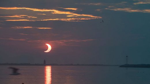 İlin ilk Günəş tutulmasının görüntüləri - ŞƏKİL/VİDEO